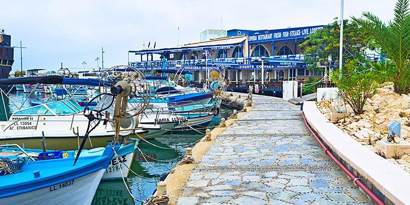 bateaux de pêche port chypre