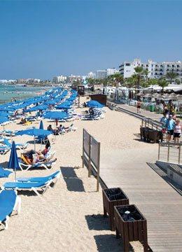 beach sunbeds sand