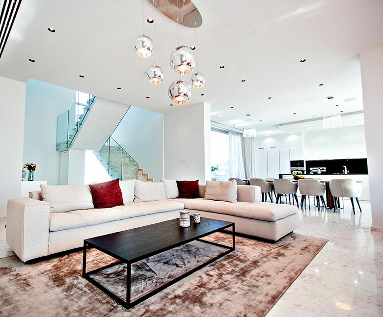 living room villa cyprus
