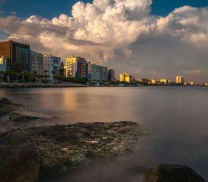 sea buildings cyprus