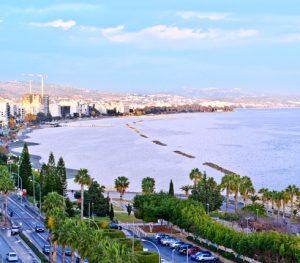 sea, city, trees